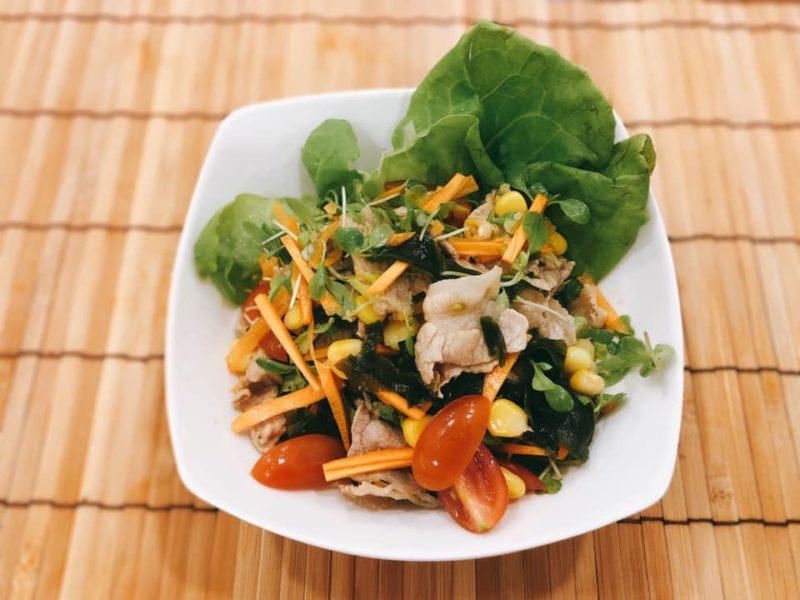 野菜たっぷりカラフル冷しゃぶサラダ