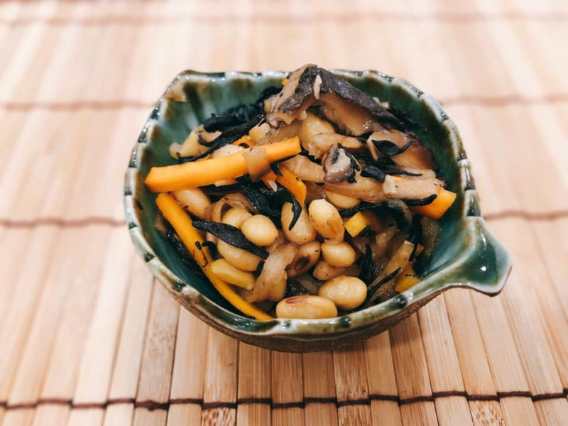 大豆と切干大根の五目煮