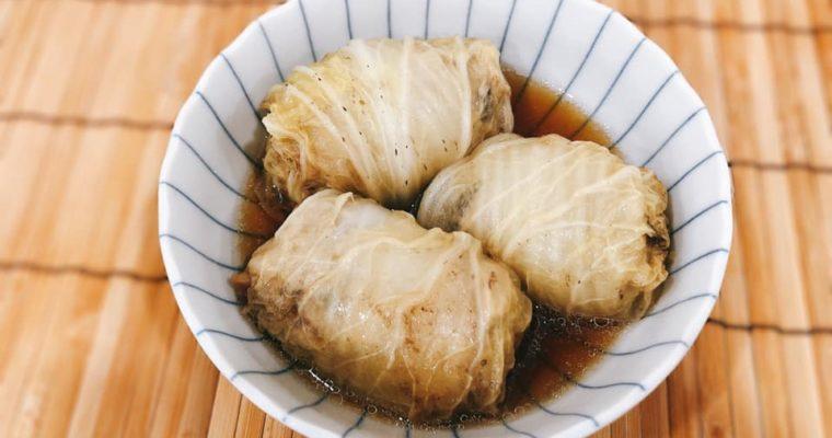 圧力鍋でやわらか 和風ロール白菜