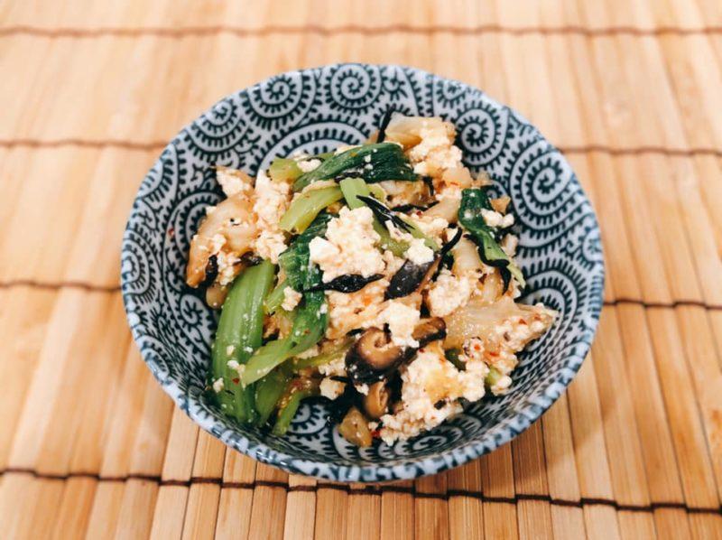 発酵パワー 小松菜とキムチの白和え