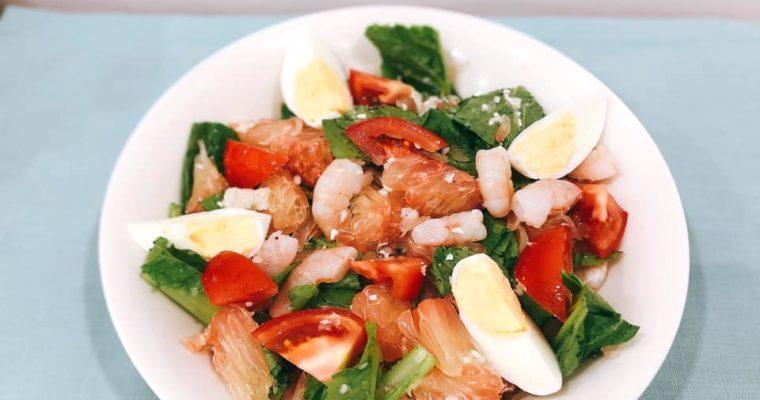 ザボンの玉ねぎ塩麴サラダ