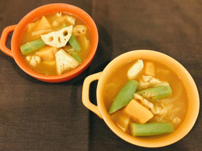 かぼちゃと蓮根のカレースープ