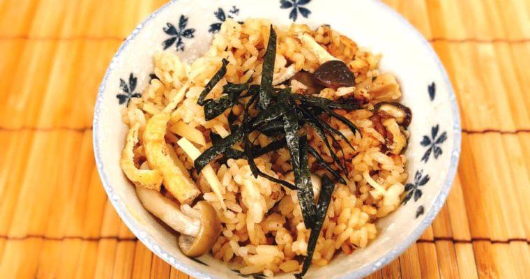 生姜香る きのこの炊き込みご飯