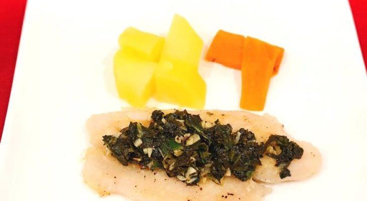 白身魚(バサ)のバジルソテー